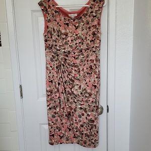 Pink faux weap dress